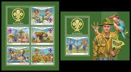GUINEA BISSAU 2018 - Scouts, Roe Deer - Mi 10007-11 + B1724 - Postzegels