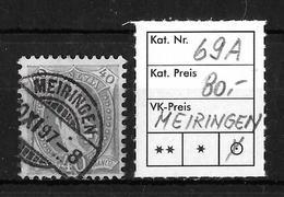 1882-1907 Stehende Helvetia → SBK-69A Rundstempel MEIRINGEN - 1882-1906 Armoiries, Helvetia Debout & UPU