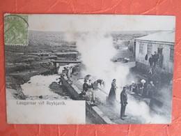 Laugarnar Vio Reykjavic . Lavoir. Dos 1900 - Islande