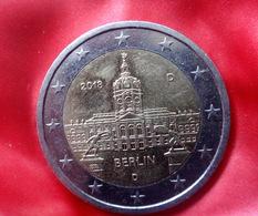 Deutschland 2 Euro 2018 Berlin -  D -  EIRO  CIRCULEET  COIN - Allemagne