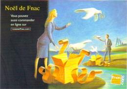 """Carte Postale  """"Cart'Com"""" (2000) - Noël à La Fnac. (illustration : Bertrand Bataille) - Publicité"""
