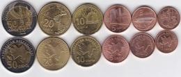 Azerbaijan - Set 6 Coins 1 3 5 10 20 50 Qapik 2006 UNC Lemberg-Zp - Azerbaïdjan