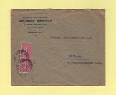 Type Semeuse - Destination Allemagne - Strasbourg - 12-11-1930 - Marcophilie (Lettres)