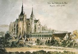 27 Abbaye Du Bec Hellouin Vue Générale De L'Abbaye En 1788 (2 Scans) - Other Municipalities