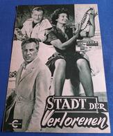 """Sophia Loren, John Wayne, Rossano Brazzi > """"Stadt Der Verlorenen"""" > Altes NFP-Filmprogramm '1958 (fp15) - Zeitschriften"""