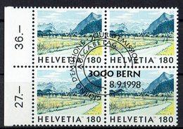 Schweiz 1998 // Mi. 1657 O 4er - Schweiz