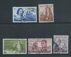 Australia 1963 Navigators Short Set Of 5 To 1 Pound Bass FU - 1952-65 Elizabeth II : Pre-Decimals