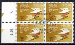 Schweiz 1986 // Mi. 1327 O 4er - Schweiz