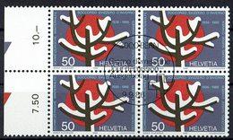 Schweiz 1986 // Mi. 1328 O 4er - Schweiz