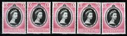 1953 QEII CORONATION   JOHORE/NEGRI SEMBILAN/PAHANG/PERAK/TRENGGANU  ALL  MNH - Johore