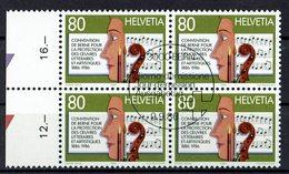 Schweiz 1986 // Mi. 1329 O 4er - Schweiz