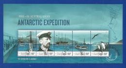 AAT 2011  Mi.Nr. Sheet 7 (195/199) , Australasian Antarctic  Expedition - Gestempelt / Fine Used / (o) - Territoire Antarctique Australien (AAT)