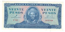 Cuba , 20 Pesos 1961, P-97a. AUNC/UNC , RARE. - Cuba