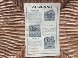 CATALOGUE *MECCANO  *TRAINS HORNBY - Meccano