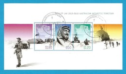AAT 2012 Mi.Nr. Sheet 8 (200/202) , Philip Law Australian Antarctic  Expedition - Gestempelt / Fine Used / (o) - Australian Antarctic Territory (AAT)