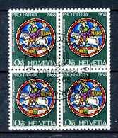 SVIZZERA - HELVETIA - Year 1968 - QUARTINE- COMPLET SET - Viaggiato - Traveled - Voyagè - Gereist. - Svizzera