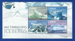 AAT 2011 Mi.Nr. Sheet 6 (187/190) , AAT Landscapes Icebergs - Gestempelt / Fine Used / (o) - Territoire Antarctique Australien (AAT)