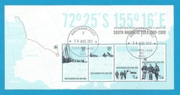 AAT 2009 Mi.Nr. Sheet 3 (177/180) , South Magnetic Pole 1909-2009 - Gestempelt / Fine Used / (o) - Territoire Antarctique Australien (AAT)