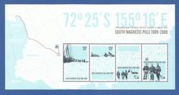 AAT 2009 Mi.Nr. Sheet 3 (177/180) , South Magnetic Pole 1909-2009 - Postfrisch / MNH / (**) - Territoire Antarctique Australien (AAT)