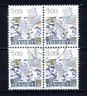 SVIZZERA - HELVETIA - Year 1982 - QUARTINA-  Viaggiato - Traveled - Voyagè - Gereist. - Svizzera