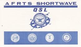 QSL Card American Forces Radio & Television Service AFRTS Shortwave 1973 (40591) - Radio