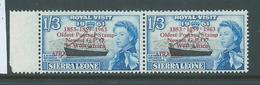 "Sierra Leone 1963 Postal Anniversary 1/3 Airmail  "" Asterisk For Hyphen "" Variety MNH - Sierra Leone (1961-...)"