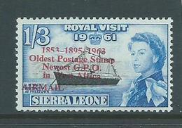 "Sierra Leone 1963 Postal Anniversary 1/3 Airmail  "" 1895 For 1859 "" Variety MNH - Sierra Leone (1961-...)"