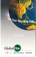 GREECE - Global One(Deutsche Telecom, France Telecom, Sprint) Prepaid Card 50 Units, Exp.date 09/99, Used - Greece