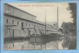 """Vitry-le-François (51) Usine Des Louvières Les Fours à Chaux 2scans 13-11-1915 Péniche - """"demande De Paix"""" - Vitry-le-François"""