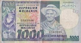 Madagascar / 1000 Francs / 1974 / P-65(a) / VF - Madagascar