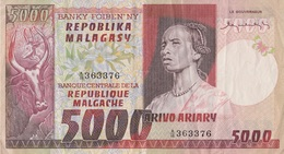 Madagascar / 5000 Francs / 1974 / P-66(a) / XF - Madagascar