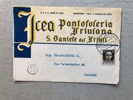 S. DANIELE DEL FRIULI  I.C.E.A. PANTOFOLERIA FRIULANA  1937 - Udine