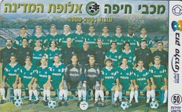 TARJETA TELEFONICA DE ISRAEL. Israeli Teams. Macabbi Haifa - 2000/2001. 106K. BZ-306. (348) - Deportes