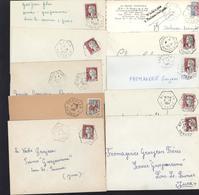 34 Hérault Agence Postale F7 Belarga Beaufort Cabrières Casouls D'Hérault Cers Creissan Oupia Pouzols Premian St Nazaire - Marcophilie (Lettres)