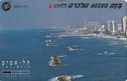 TARJETA TELEFONICA DE ISRAEL. Tel Aviv - Panorama - Left. 812K. BZ-205. (344). - Israel