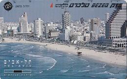 TARJETA TELEFONICA DE ISRAEL. Tel Aviv - Panorama - Middle. 810B. BZ-206. (345). - Israel