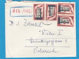 LUFTPOSTBRIEF MIT 4 X 10 CTS,EUROPA 1956. - 1949-1980 (Juliana)
