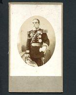 Fotografia Antiga MILITAR UNIFORME MEDALHAS. Photographo Amador J.SOUZA. Old Cabinet Photo PORTUGAL - Photos