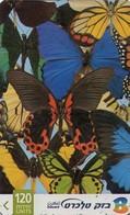 TARJETA TELEFONICA DE ISRAEL. Butterfly 3/4. 212B. BZ-349. (343). - Mariposas