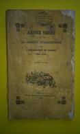 GRENOBLE ALMANACH AGRICOLE SOCIÉTÉ D'AGRICULTURE VERS A SOIE TAILLE 1854 - Documents Historiques