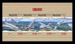 Maldives 2018 Mih. 7293/96 Aviation. Supersonic Airliners Concorde MNH ** - Maldives (1965-...)