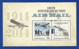Australien 2014 Mi.Nr. Sheet 216 (4139/40) ,  First Air Mail - CTO - Gestempelt / Fine Used / (o) - - 2010-... Elizabeth II