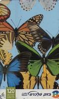 TARJETA TELEFONICA DE ISRAEL. Butterfly 4/4. 211K. BZ-350. (342). - Mariposas