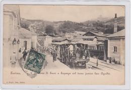TORINO-STAZIONE DI SASSI A SUPERGA-CON TRENO FUNICOLARE=AGAUDIO=-CARTOLINA VIAGGIATA IL 27-8-1905 - Italie