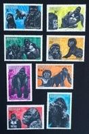 Rwanda 1983; Wild Animals, Monkeys, Gorilla; MNH** Nice Set!! - 1980-89: Neufs