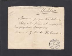 SOLDAT BELGE RÉFUGIE AUX PAYS-BAS ET INTERNE AU CAMP DE ZEIST,1914.CACHET D'ARRIVÉE DE RIJWIIJK) - Postmark Collection