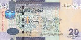 LIBYA 20 DINARS 2008 2009 P-74 SIG/7 BENGADARA UNC - Libya