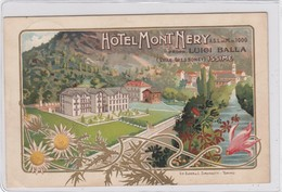 ISSIME-GRESSONEY-AOSTA-HOTEL=MONT NERY=BELLISSIMA CARTOLINA VIAGGIATA IL 18-2-1909 - Aosta