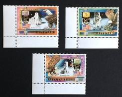 Aitutaki 1989; Cosmos, Space, Moon Landing; Animals & Fauna; Birds Of Prey, Eagles; MNH, Neuf, Postfrisch; CV 16 Euro; - Aitutaki