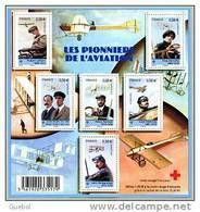 France BF N° F 4504 ** Pionnier De L'aviation - Latham, Deroche, O. Et W. Wright, Farman, Védrine Et Delagrange - Neufs